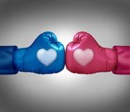 Πάλη για την αγάπη διανυσματική απεικόνιση