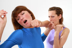 Πάλη γυναικών Στοκ Εικόνες