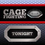 Πάλη κλουβιών Αφίσα MMA απαγορευμένα απεικόνιση αποθεμάτων