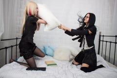 Πάλη μαξιλαριών Στοκ φωτογραφία με δικαίωμα ελεύθερης χρήσης