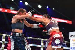 Πάλη μεταξύ Ewa Piatkowska και της Αλεξάνδρα Magdziak Lopes Στοκ εικόνα με δικαίωμα ελεύθερης χρήσης
