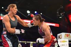 Πάλη μεταξύ Ewa Piatkowska και της Αλεξάνδρα Magdziak Lopes Στοκ φωτογραφίες με δικαίωμα ελεύθερης χρήσης