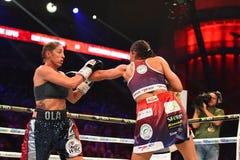 Πάλη μεταξύ Ewa Piatkowska και της Αλεξάνδρα Magdziak Lopes Στοκ φωτογραφία με δικαίωμα ελεύθερης χρήσης