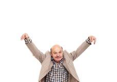 Πάλη στα προβλήματα εργασίας Ηλικιωμένο ατόμων γύρω μετά από την εργασία Στοκ φωτογραφίες με δικαίωμα ελεύθερης χρήσης