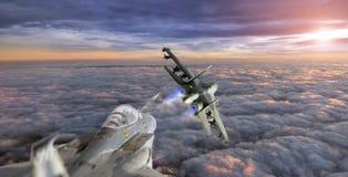 Πάλη στον ουρανό Στοκ εικόνα με δικαίωμα ελεύθερης χρήσης