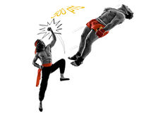Πάλη δύο τηλεοπτική παιχνιδιών manga μαχητών πολεμικών τεχνών Στοκ φωτογραφία με δικαίωμα ελεύθερης χρήσης
