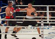 Πάλη Oleksandr Usyk εγκιβωτισμού εναντίον Danie Venter Στοκ Εικόνα