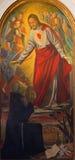 Πάδοβα - η καρδιά του Ιησού και Αγίου Anthony της Πάδοβας από το Antonio σιδηρο από 19 σεντ Στοκ Εικόνες