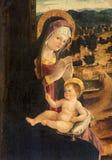 Πάδοβα - το χρώμα Madonna με το παιδί από Bellini το σχολείο από 16 σεντ στην εκκλησία του Άγιου Βασίλη Στοκ φωτογραφία με δικαίωμα ελεύθερης χρήσης