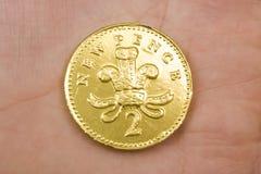 πένα νομισμάτων σοκολάτας Στοκ εικόνα με δικαίωμα ελεύθερης χρήσης