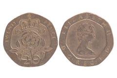 πένες είκοσι νομισμάτων στοκ εικόνα με δικαίωμα ελεύθερης χρήσης