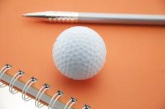 πέννα γκολφ σφαιρών Στοκ Εικόνες