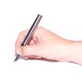 πέννα εκμετάλλευσης χεριών Στοκ φωτογραφία με δικαίωμα ελεύθερης χρήσης