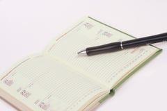 πέννα ημερολογίων Στοκ εικόνες με δικαίωμα ελεύθερης χρήσης