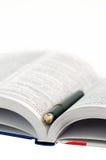 πέννα λεξικών Στοκ φωτογραφίες με δικαίωμα ελεύθερης χρήσης