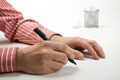 πέννα χεριών Στοκ εικόνες με δικαίωμα ελεύθερης χρήσης