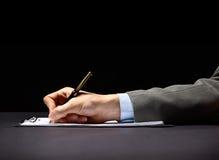 πέννα χεριών Στοκ εικόνα με δικαίωμα ελεύθερης χρήσης