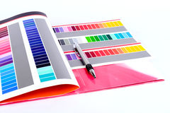 πέννα χρώματος καρτών Στοκ φωτογραφία με δικαίωμα ελεύθερης χρήσης