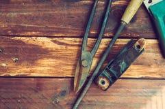 Πένσες και ψαλίδι για το μέταλλο στοκ φωτογραφίες με δικαίωμα ελεύθερης χρήσης