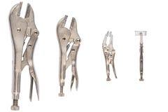 Πένσες κλειδώματος σε ένα άσπρο υπόβαθρο στοκ φωτογραφία με δικαίωμα ελεύθερης χρήσης
