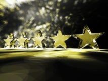 πέντε αστέρια Στοκ φωτογραφίες με δικαίωμα ελεύθερης χρήσης