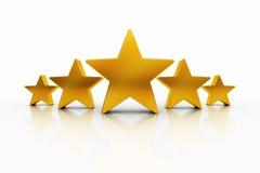 Πέντε αστέρια Στοκ Φωτογραφία