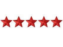 πέντε αστέρια Στοκ Εικόνα