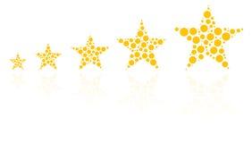 Πέντε αστέρων εκτίμηση ποιότητας των προϊόντων Στοκ Εικόνες