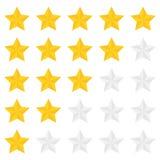 Πέντε αστέρων ταξινόμηση Στοκ Εικόνες