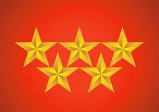 πέντε αστέρων Στοκ Εικόνες