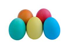Πέντε αυγά Πάσχας Στοκ εικόνα με δικαίωμα ελεύθερης χρήσης