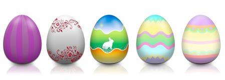 Πέντε αυγά Πάσχας Στοκ φωτογραφία με δικαίωμα ελεύθερης χρήσης