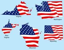 πέντε κράτη σημαιών Στοκ εικόνα με δικαίωμα ελεύθερης χρήσης