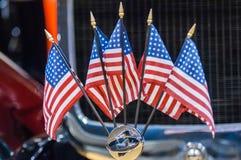Πέντε μίνι σημαίες Στοκ Εικόνες