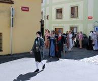 Πέντε-με πέταλα αυξήθηκε φεστιβάλ σε Cesky Krumlov στη Δημοκρατία της Τσεχίας Στοκ φωτογραφία με δικαίωμα ελεύθερης χρήσης