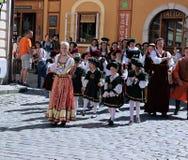 Πέντε-με πέταλα αυξήθηκε φεστιβάλ σε Cesky Krumlov στη Δημοκρατία της Τσεχίας Στοκ Εικόνα