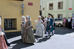 Πέντε-με πέταλα αυξήθηκε φεστιβάλ σε Cesky Krumlov στη Δημοκρατία της Τσεχίας Στοκ Φωτογραφία