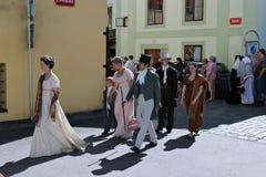 Πέντε-με πέταλα αυξήθηκε φεστιβάλ σε Cesky Krumlov στη Δημοκρατία της Τσεχίας Στοκ εικόνα με δικαίωμα ελεύθερης χρήσης