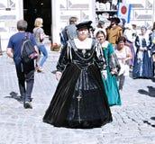 Πέντε-με πέταλα αυξήθηκε φεστιβάλ σε Cesky Krumlov στο τσεχικό Republ Στοκ Εικόνα