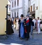 Πέντε-με πέταλα αυξήθηκε φεστιβάλ σε Cesky Krumlov στο τσεχικό Republ Στοκ φωτογραφία με δικαίωμα ελεύθερης χρήσης