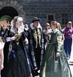 Πέντε-με πέταλα αυξήθηκε φεστιβάλ σε Cesky Krumlov στο τσεχικό Republ Στοκ Φωτογραφίες