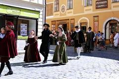 Πέντε-με πέταλα αυξήθηκε φεστιβάλ στο bystreet σε Cesky Krumlov Στοκ φωτογραφίες με δικαίωμα ελεύθερης χρήσης