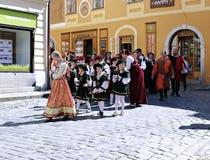 Πέντε-με πέταλα αυξήθηκε φεστιβάλ στο bystreet σε Cesky Krumlov Στοκ φωτογραφία με δικαίωμα ελεύθερης χρήσης