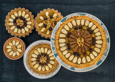 Πέντε παραδοσιακά πολωνικά κέικ Πάσχας (Mazurki) Στοκ Φωτογραφία