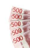 Πέντε πεντακόσια τραπεζογραμμάτια Στοκ Φωτογραφία