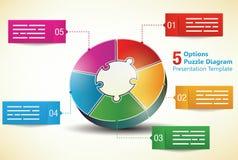 Πέντε πλαισιωμένο πρότυπο παρουσίασης απεικόνιση αποθεμάτων