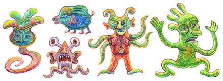 Πέντε φαντάσματα Στοκ Εικόνες