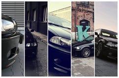 Πέντε φωτογραφίες της BMW Στοκ Εικόνες