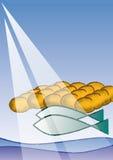 Πέντε ψωμιά και δύο ψάρια ελεύθερη απεικόνιση δικαιώματος