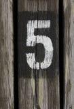 πέντε Στοκ εικόνα με δικαίωμα ελεύθερης χρήσης